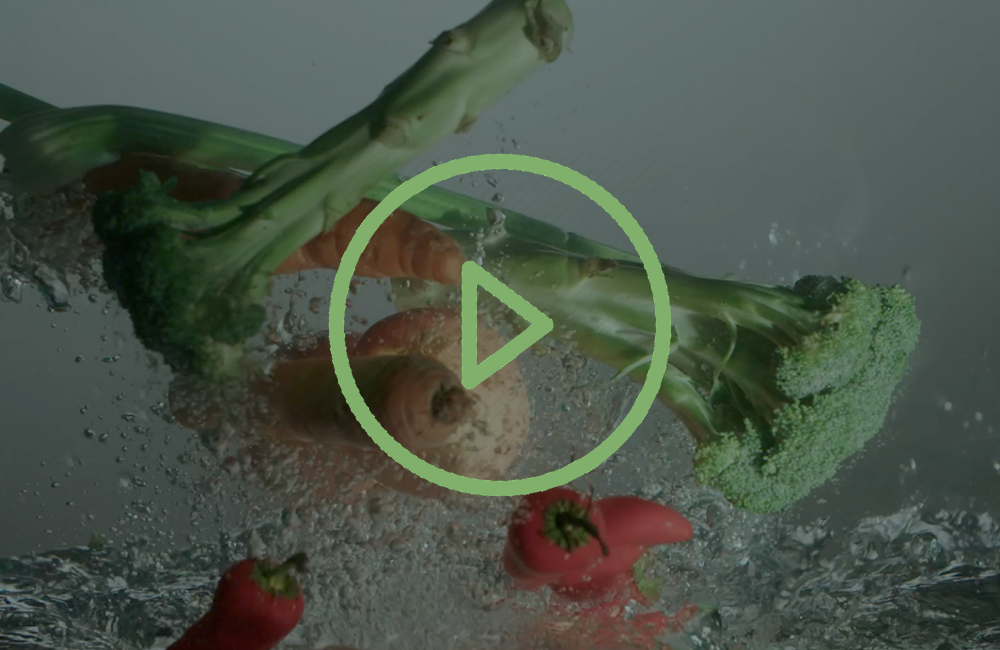 play quick soak veggies in water video
